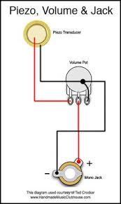 53 tele wiring diagram cigar guitar box pinterest guitars Dimarzio Wiring Diagram Dbz piezo diagram with volume pot and jack