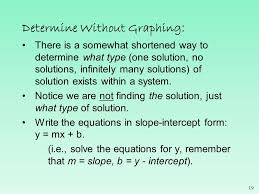 determine without graphing