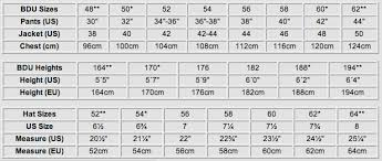 Perspicuous Military Boots Size Chart 2019