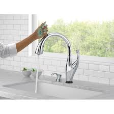 delta addison touchless single handle standard kitchen faucet delta addison touchless single handle standard kitchen faucet soap dispenser