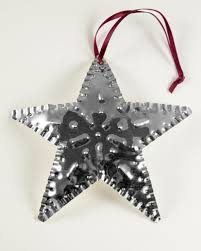 Punched Hanging Star Ornaments - Christmas Decorations