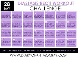 28 Day Diastasis Recti Workout Challenge Diary Of A Fit Mommy