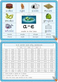 Use these phonics worksheets, videos, and flash cards to help your students practice the basics. A E Split Digraph Phonics Poster Digraph Digraphs Activities Phonics Posters
