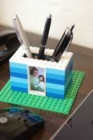 office gifts for dad. simple for kid made fatheru0027s day gift  lego photo pen holder for dad and office gifts for g