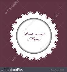 Restaurant Menu Background Royalty Free Stock Illustration