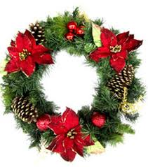 Poinsettias are the soul of Christmas decor and the Holiday Cheer 24  Poinsettia and Pine Wreath
