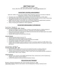 Inventory Control Resume New Resume Inventory Mmventuresco