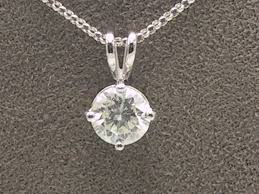 beautiful 18carat white gold 1 15 carat diamond pendant with 16 belcher chain