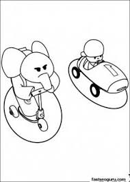 Printable Coloring Pages Pocoyo And Elly Have Race Printable