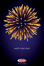 barilla pasta barilla happy new year print ad by y r milan