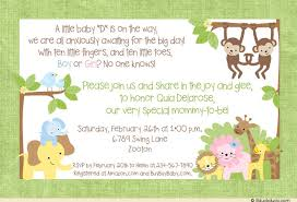 Baby Shower Invitation Wording Cute Jungle Safari Shower Green Cute Baby Shower Invitation Ideas