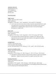 Overnight Stocker Resume Sample Latest Resume Format