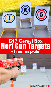 Diy Cereal Box Nerf Gun Targets And Free Template