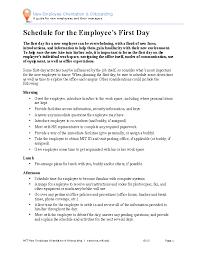 New Employee Orientation Schedule Template Word Doc Pdfsimpli