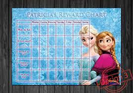 Personalised Disney Frozen Kids Rewards Chart Sticker