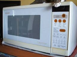sharp convection microwave. in good working condition, a sharp convection microwave oven model r-7h55g for sale at only s$95. this is high end one that can be used