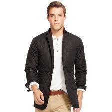 Polo ralph lauren Quilted Sport Coat in Black for Men | Lyst & Gallery Adamdwight.com