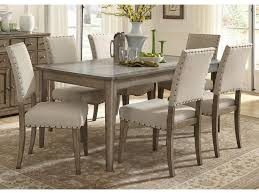 Liberty Furniture Weatherford Casual Rustic  Piece Dining Table - Rustic chairs for dining room