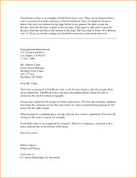 Format Of A Block Style Letter Copy Block Style Business Letter