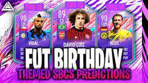 FIFA 21 | FUT BIRTHDAY NEXT 3 THEMED SBCS PREDICTIONS | FT. Vidal, David  Luiz, Reus - YouTube