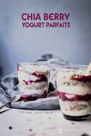 low carb chia berry yogurt parfaits