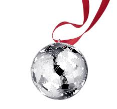 silver plated christmas ornament 2016