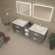 smartness ideas double basin vanity units for bathroom sonix 1500 wall hung unit grey at