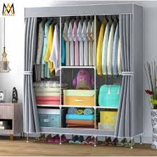 fashion wardrobe organizer clothes storage 88105 105 2 gray