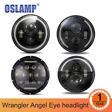<b>7inch 12V 6000K</b> Car LED Headlight Bulbs Halo Angle Eye Led ...