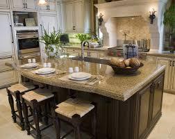 image of island granite countertop designs