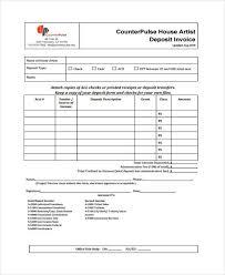 10 Deposit Invoice Templates Pdf Word Excel Free