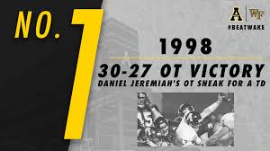 Top App State Wake Forest Moments No 1 Appalachian State