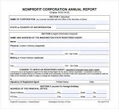Non Profit Treasurer Report Template Non Profit Annual Report Template