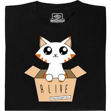 In The Shirt Schrödingers Katze Glow In The Dark T Shirt Getdigital