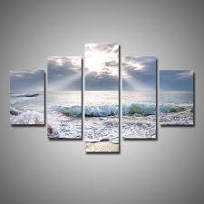 panel wall art beach