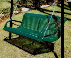 outside swing bench.  Outside M6WBISWING  Thermoplastic Coated Park Bench Swing Patio Green In Outside S