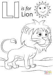 Free Letter L Coloring Page For Kids Free Coloring Book Picture