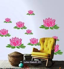 customize lotus stencil design stencil designs stenciling and lotus wall stencils