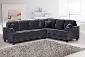 images grey furniture.  Furniture Grey Velvet Sectional Sofa Brilliant Meridian Furniture Ferrara 655GRY 2PC  Modern Inside 14  Images E