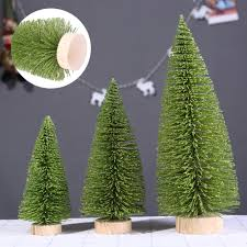 Mini Christmas Tree With Lights And Decorations Us 0 9 20 Off 3d Mini Christmas Tree Light Green Pine Tree With Wood Base 1pc Diy Craft Table Xmas Home Decoration Hanging Ornaments Gift Toys In