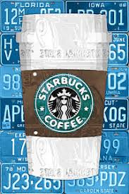 starbucks wall art mixed media starbucks coffee cup recycled vintage license plate pop art on starbucks coffee wall art with starbucks art fine art america