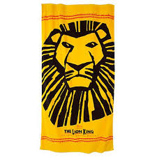 awesome beach towels. Yellow And Black The Lion King Beach Towel - Awesome Towels