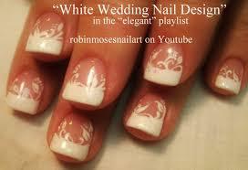 Easy White Tip Nail Art Design - YouTube