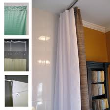 see through top panel shower curtains for institutional settings