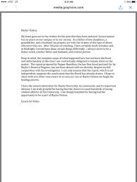 baylor letter of recommendation
