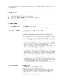 Attorney Cover Letter Samples Fascinating Family Law Attorney Resume Attorney Resume Format Cover Letter