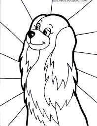Cute Dog Coloring Pages Of Dogs On Funny Animals Page Printabl Print