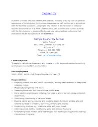 Cleaner Sample Resume Sample Cleaner Cv Free Resumes Tips 3