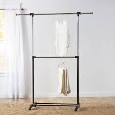 Portable And Expandable Garment Rack In Black Chrome 18 Months Simple Wayfair Basics™ Wayfair Basics 32W32W Adjustable Garment Rack