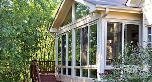 vinyl four season sunroom in sandstone with gl wings and gl knee wall
